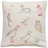 birds of the world pillow