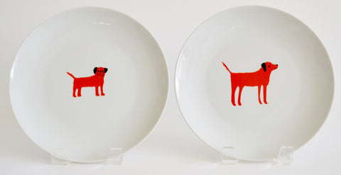 red dog 2 plate set