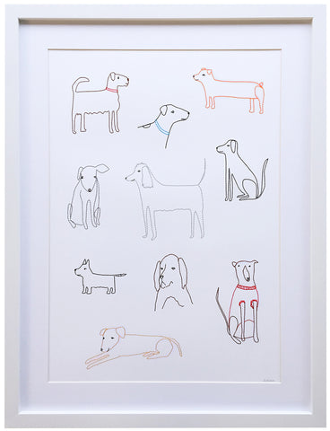 Dogs stitched art