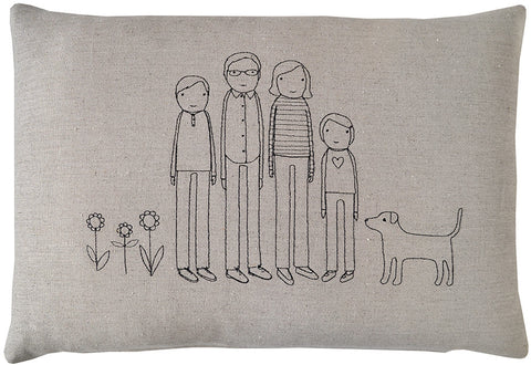 family pillow-centered
