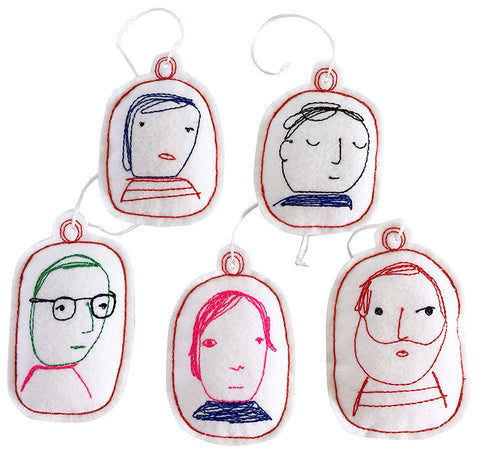 ornament set- folks