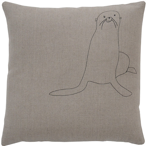 galapagos seal pillow