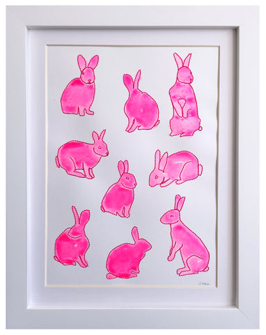 rabbits painted