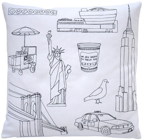 places- new york pillow