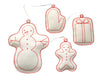 ornament set- snowman group