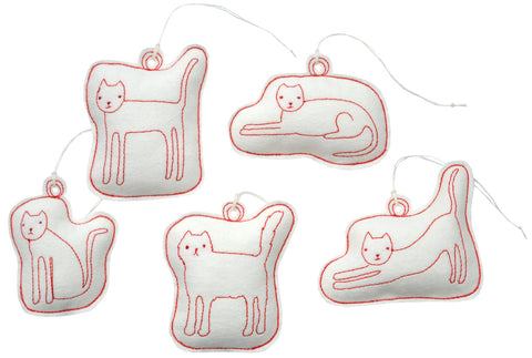 ornament set- cats
