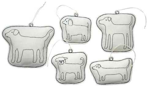 ornament set- dogs