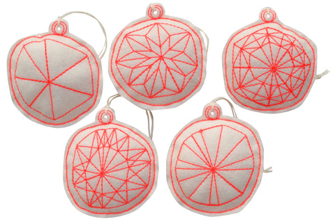 ornament set- snowflakes