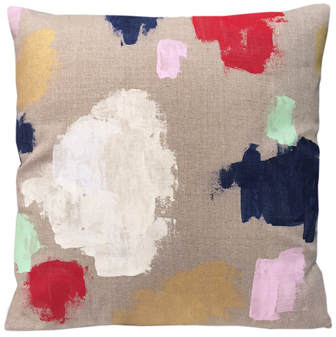Painterly Pillow, Hand Painted