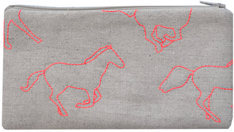 pouch- galloping horses