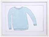 Blue Sweater - Painted, Framed Art