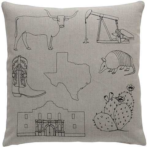 places- texas pillow