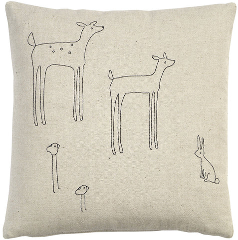 woodland creatures pillow