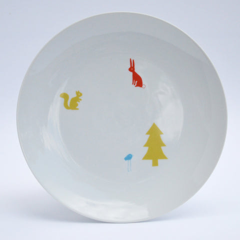 woodland creatures plate set