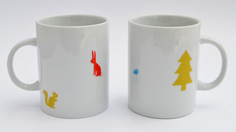 woodland creatures two mug set