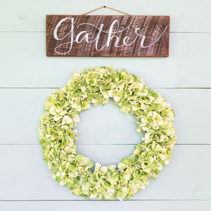 """Gather"" Hand-Lettered Sign"