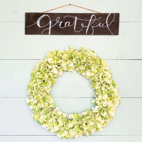 """Grateful"" Hand-Lettered Sign"