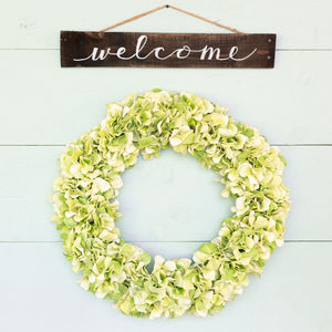 """welcome"" Hand-Lettered Sign"