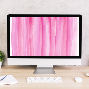 Pink Silk Watercolor Digital Wallpaper