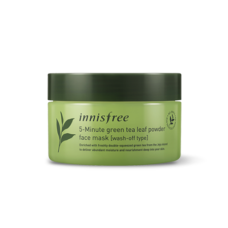 Innisfree 5-Minute green tea leaf powder face mask (Wash-Off-Type) 70g