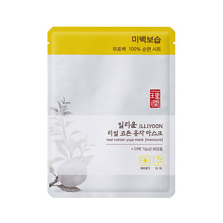 Illiyoon Real Cotton yuja Mask (Moisture) 1ea
