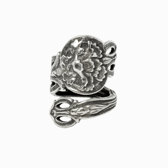 January Carnation Spoon Ring
