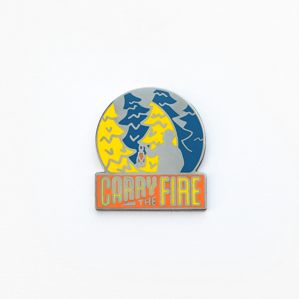 Carry The Fire Enamel Pin