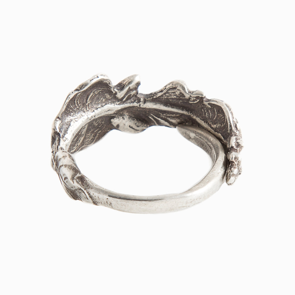 Hollyhock Spoon Ring