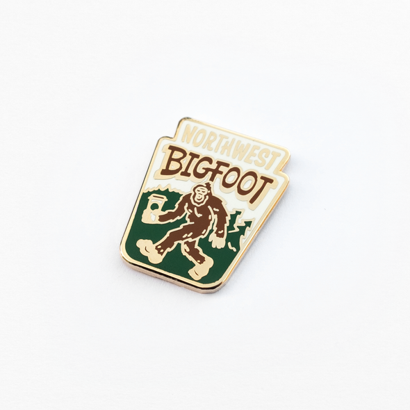 Northwest Bigfoot Enamel Pin