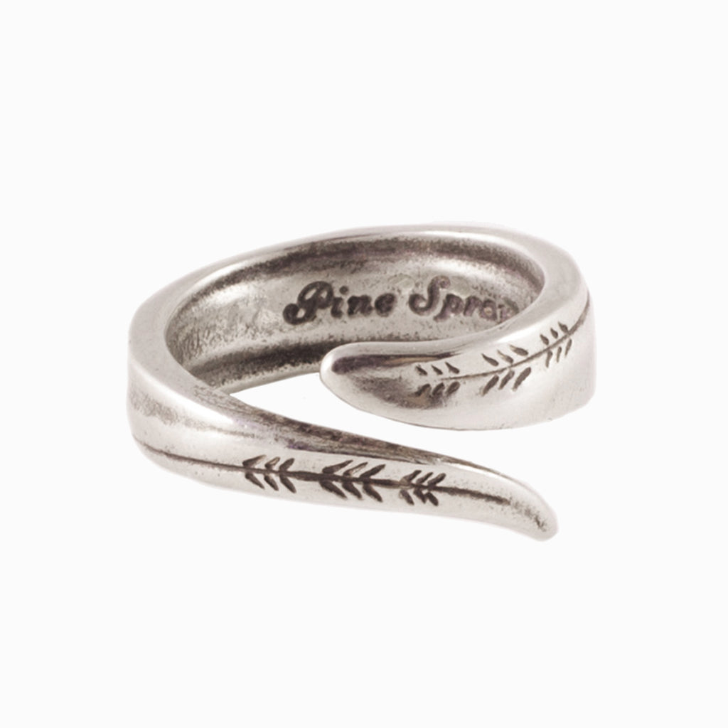 Pine Spray Spoon Ring