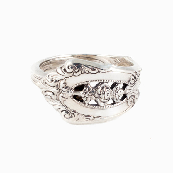 Rose Point Spoon Ring