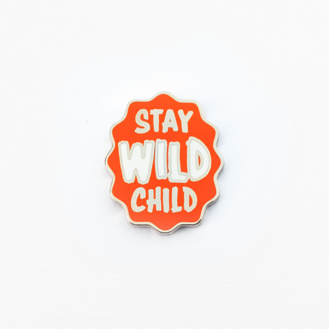 Stay Wild Child Enamel Pin