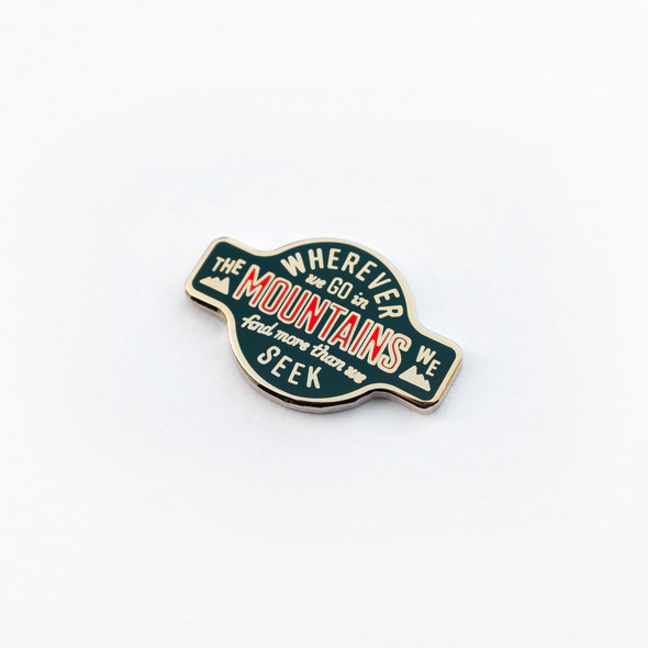 Wherever We Go Enamel Pin