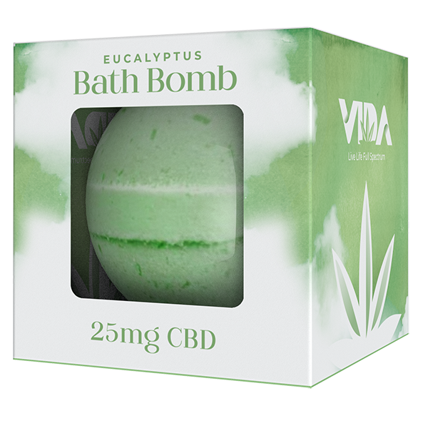 CBD Bath Bomb + 100% Pure Essential Oils | Eucalyptus 200mg