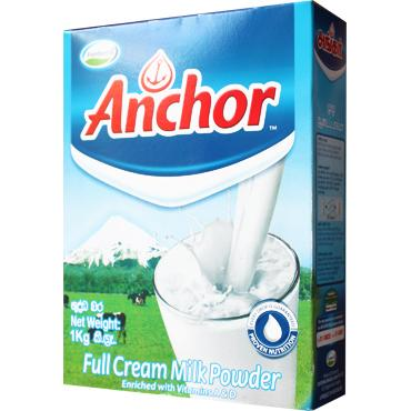 ANCHOR FULL CREAM MILK POWDER 1KG - Maharaja Super Sri Lanka Online Grocery Shopping
