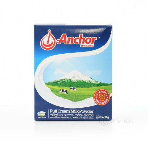ANCHOR FULL CREAM MILK POWDER 400G - Maharaja Super Sri Lanka Online Grocery Shopping