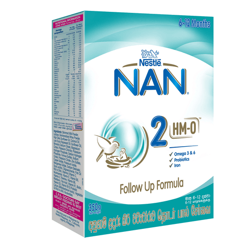 NESTLE NAN 2 HM-O 6-12 MONTH 350G - Maharaja Super Sri Lanka Online Grocery Shopping