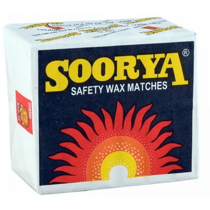 SOORYA SAFETY WAX MATCHES DOZEN - Maharaja Super Sri Lanka Online Grocery Shopping