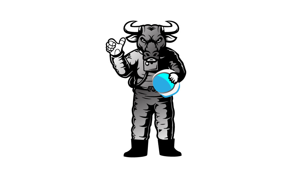 MyCryptoCanvas Space astronaut Bull cryptocurrency bitcoin logo
