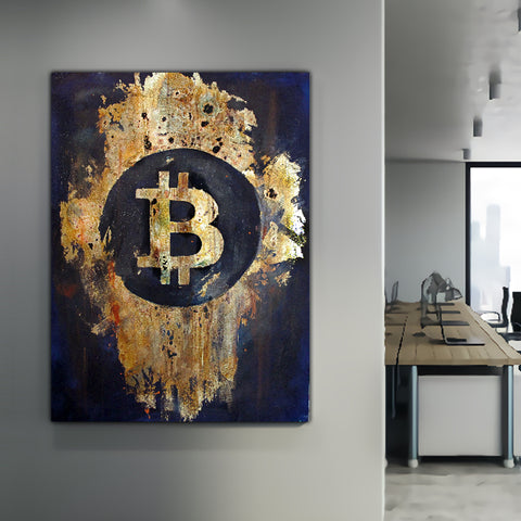 bitcoin btc office and home wall artwork for sale