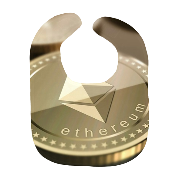 Gold ethereum eth baby bib logo and coin for sale