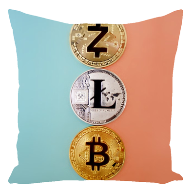 3 Coin Throw Pillow
