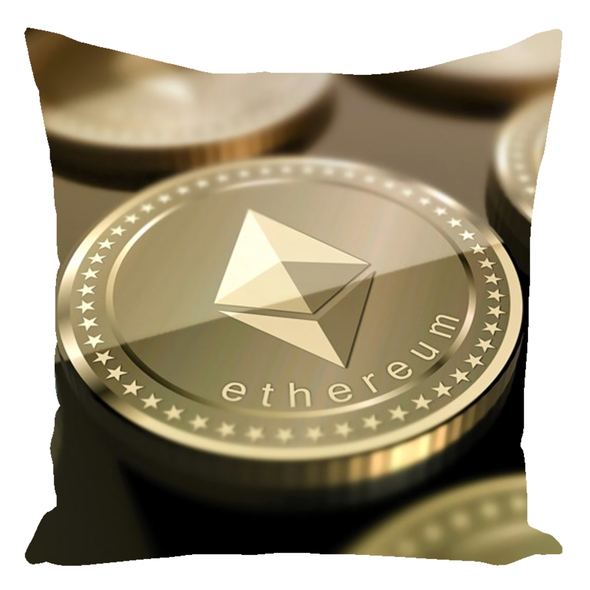 ethereum eth decorative throw pillow for sale