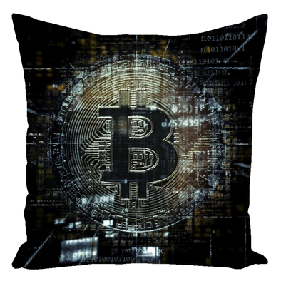BTC Throw Pillow