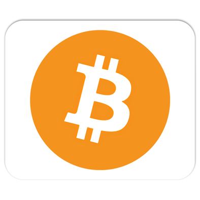 orange bitcoin logo mousepads mouse pad for sale