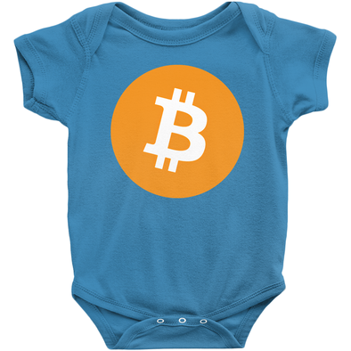 blue bitcoin btc onesies for sale