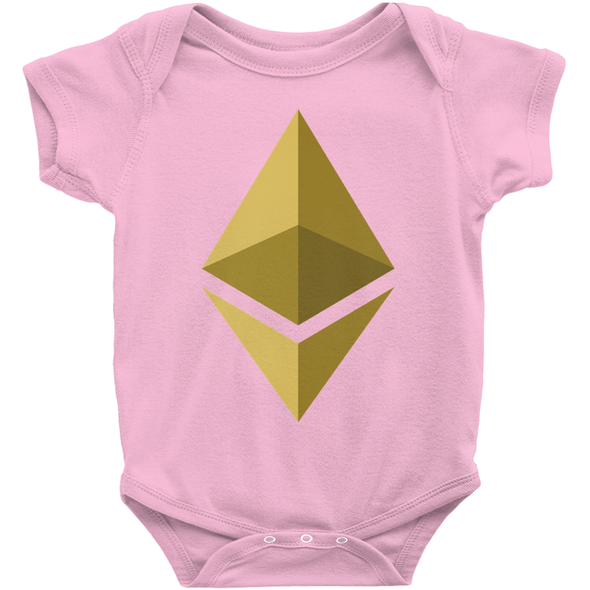 pink ethereum eth baby newborn infant onesies for sale