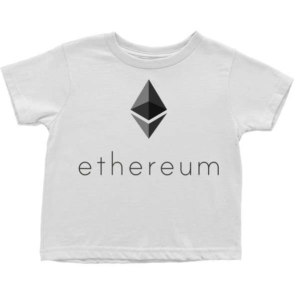 grey ethereum eth toddler tee shirt t-shirt for sale