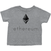 ethereum eth grey toddler tee shirt and t-shirts for sale