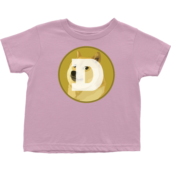 pink toddler doge tee shirt for sale